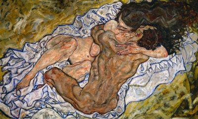 """Image de """"L'Étreinte (couple d'amoureux II)"""" du peintre Egon Schiele"""