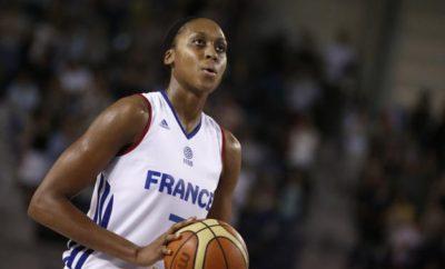 Sandrine Gruda, joueuse de l'équipe de France de basket féminin. Crédit: A. Martin pour L'Equipe